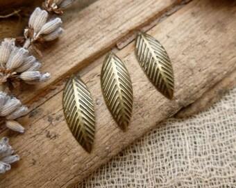 20x Leaf Charms, Antique Brass Pendants, Necklace, Bracelet, Earring C518