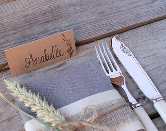 Wheatgrass Wedding Place Cards - (set of 50)