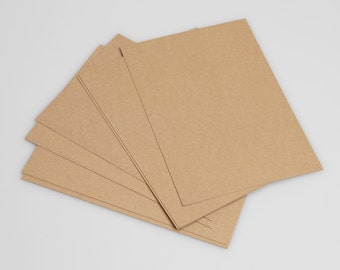 Recycled Brown Kraft Card  A4 275gm ( pack of 50 sheets) Ideal for printing invitations