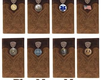 Custom Shriner and American Flag Ariat Brown Digital Camo Bi-fold wallet
