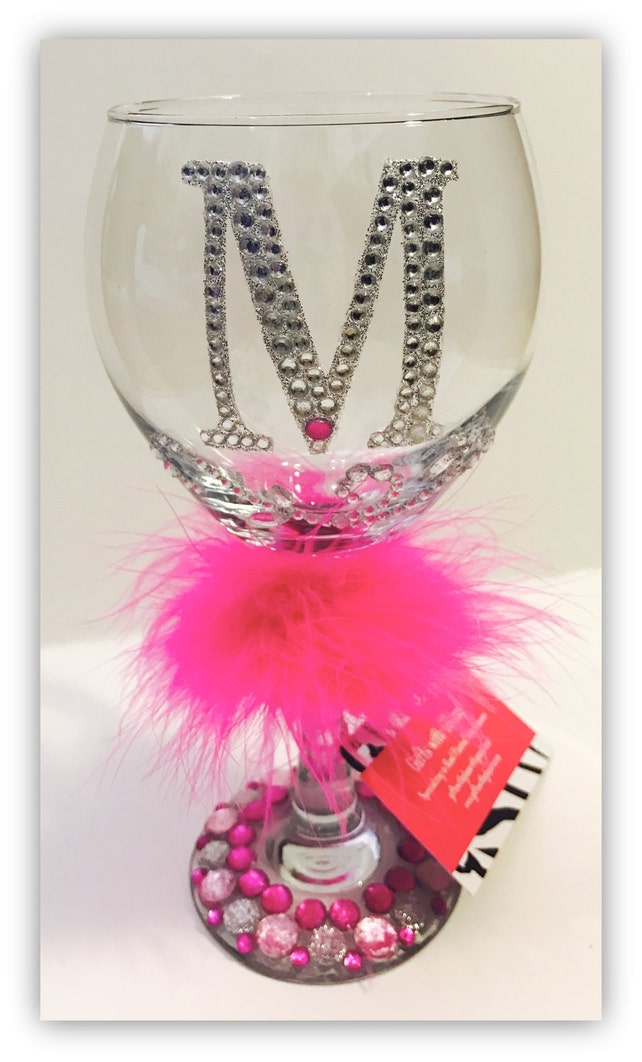 4ae81a9ce74 Personalized Bling Wine Glasses - Glass Decorating Ideas