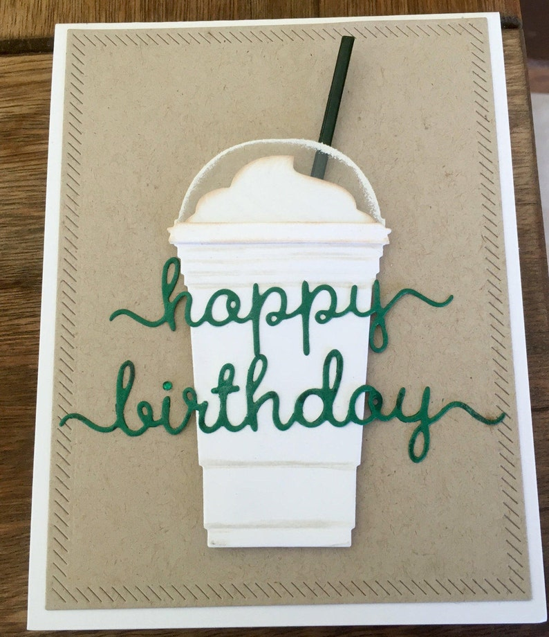 Starbucks Happy Birthday Card With Gift Holder For A