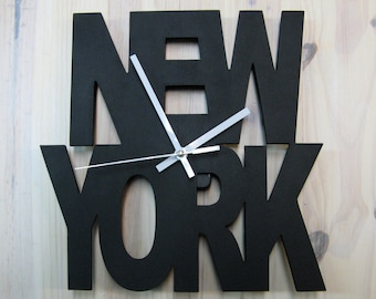 NEW YORK clock, Unique wall clok,Home Clock,Home Decor,decor and housewares,Wall Clock