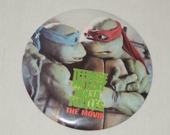 VTG Teenage Mutant Ninja Turtles TMNT The Movie Oversized Button