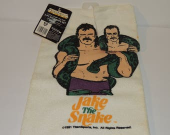 NWT Jake The Snake Roberts WWF Superstars / WWE Wrestling 2 Piece Bath Mate Set - McArthur Towels