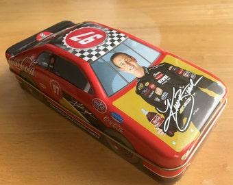 """Coca-Cola Racing Family Tin Race Car 8"""" Kurt Busch No 97 NASCAR Mint Vintage"""