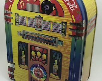 "Coca-Cola 1998 Jukebox Collector Tin Excellent Condition 6.25""x4""x2.25"""
