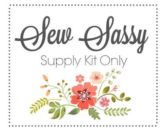 Sew Sassy Thread Catcher Supply Kit for Sewing Accessory, Scrap Catcher, with Ground Walnut Shells from Curry Bungalow