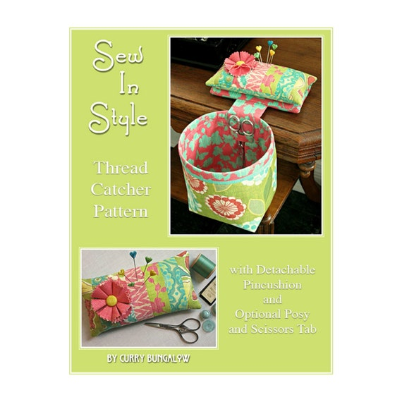 SEW IN STYLE Thread Catcher Sewing Pattern Digital Download
