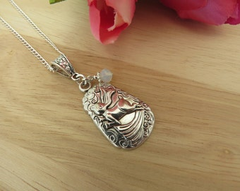 Hare pendant etsy leaping hare pendant moon gazing hare goddess spring ostar pagan wiccan wicca birthday gift mothers day gift aloadofball Gallery