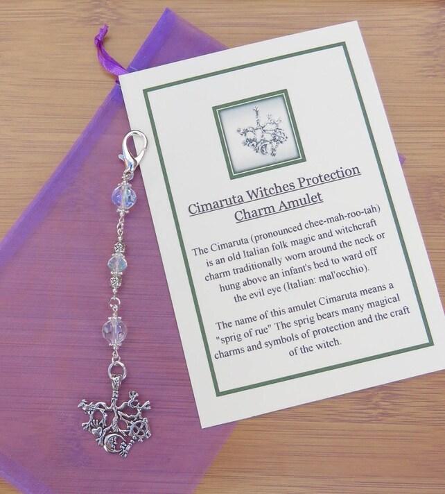 Cimaruta Protection Charm Amulet Sun Catcherrear Car Mirror Etsy