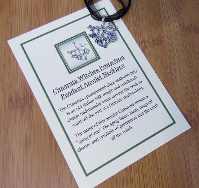 Cimaruta Witches Protection Pendant Amulet Necklace Strega Etsy