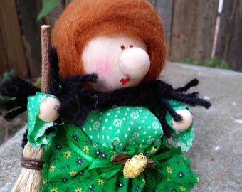 Kitchen Witch Strega Nona La Befana Italian Christmas Scandinavian Figurine Good Luck Gift For Cook Housewarming