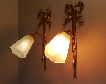 1930s wall sconces etsy french pair of ribbon wall sconces large wall lights 1930s aloadofball Choice Image