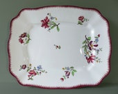 Antique Faience Hand-Painted Dish made by Sarreguemines - pattern Strasbourg 1900s
