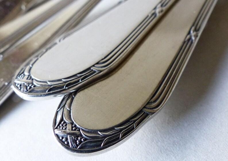 6 WMF antique en argent plaqués fourchettes + 6 cuillères - Ligament croisé Louis XVI argenté couverts