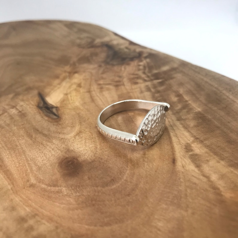 Womens Silver Ring Handmade Egyptian Inspired Jewelry Weird Ring Textured Ring Sterling Silver Swivel Ring Abstract Jewelry
