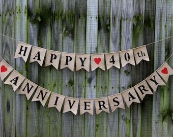 happy anniversary banner etsy