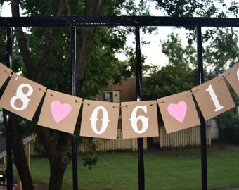 Save the date  Wedding Banner   Banners - Engagement Party Decoration - Photo Prop