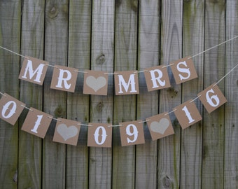 Wedding Banner - Engagement Party Decoration -  Wedding date Photo Prop Save the date