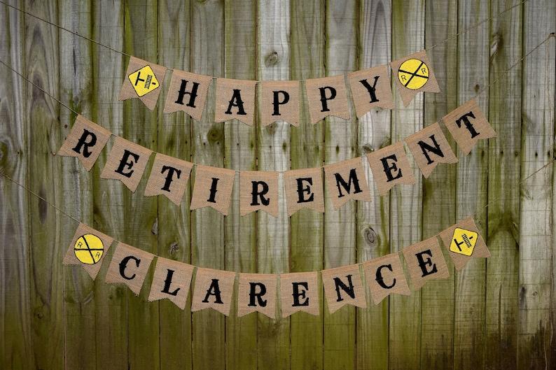 Custom Burlap Banner Happy Retirement Banner 10th image 0