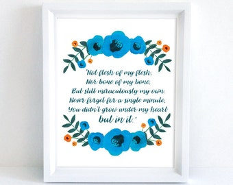 Adoption Poem | 8x10 Print | Inspirational Adoption Art