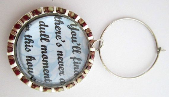 Downton Abbey Wine Glass Charm Dowager Countess Funny Quotes Etsy