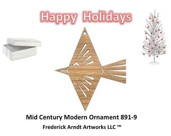 891-9 Mid Century Modern Christmas Ornament