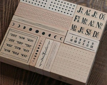 In Stock: Lin Chia Ning Rubber Stamps Set -  Odds and Ends Rubber Stamps Vol. 1
