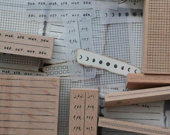 In Stock: Lin Chia Ning Rubber Stamps Set -  Odds and Ends Rubber Stamps Vol. 2