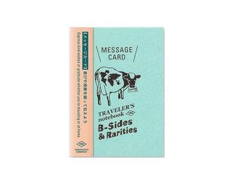 Traveler's Notebook Refill - Passport Size - B-Sides and Rarities Message Card
