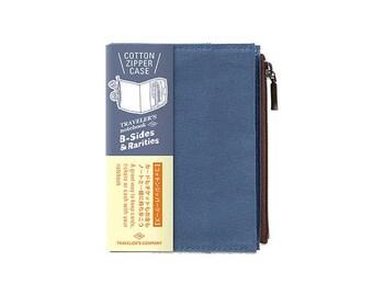 Traveler's Notebook Refill - Passport Size - B-Sides and Rarities Cotton Zipper Case Blue