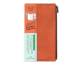 Traveler's Notebook Refill - Regular Size - B-Sides and Rarities Cotton Zipper Case Orange