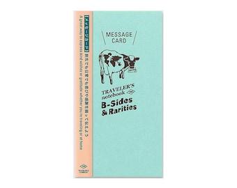 Traveler's Notebook Refill - Regular Size - B-Sides and Rarities Message Card