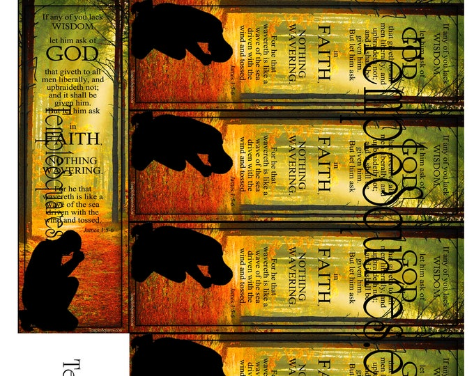 PRINTABLES Bookmarks Joseph Smith Sacred Grove LDS YW Theme Chalkboard style Ask of God Ask in Faith James 1: 5-6