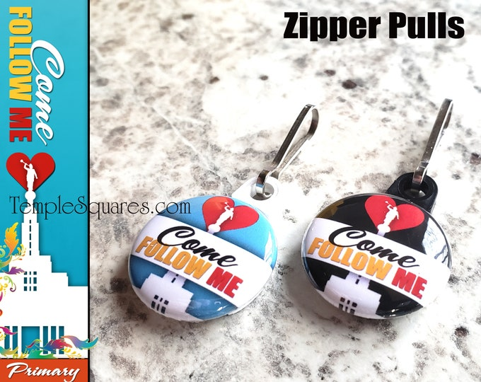 Personal Listing for acwilson30 - Zipper Pulls Come Follow Me LDS Gifts 2019 Primary Theme - Birthdays, Baptism, Great to be Eight
