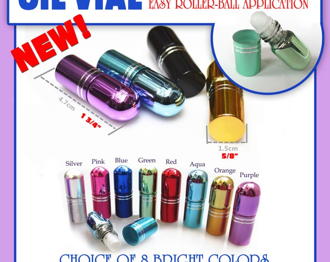 LDS Consecrated Oil Vial - New Easy Roller-Ball Application. Or Essential oil vial. Great Sister Missionary Gift