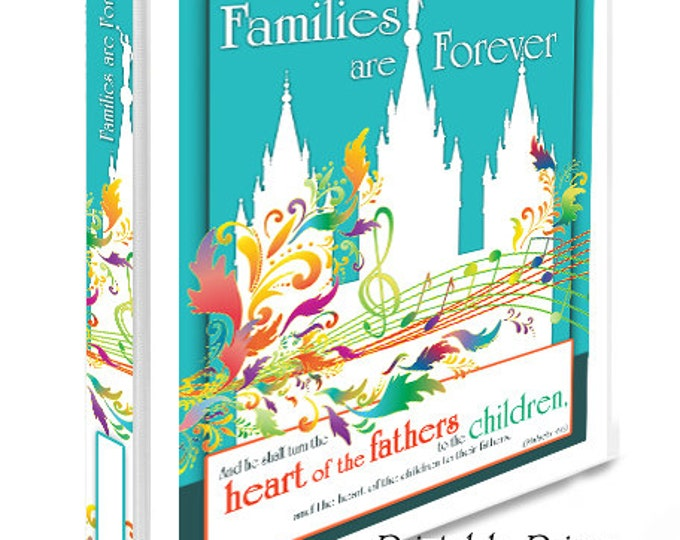 Printable Colorful Primary Binder Covers and Spines LDS Temple Art with Primary 2019 Theme Families are Forever for Presidency and Classes