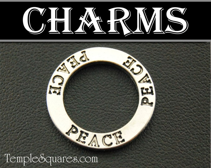 Circle Peace in Christ 2018 YW Young Women Mutual Theme Charm for bracelets Charms Gift Girls Camp Secret Sister Gifts Craft LDS Youth