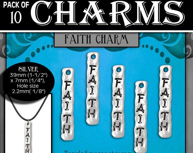Faith Charms or necklaces - Silver YW Ask of God Ask in Faith LDS Jewelry Craft Supplies DIY Choker, Pendant, Necklace, Bracelets, Gift
