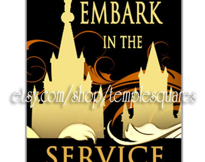 PRINTABLES - Embark in the Service of God - mini Gift tags or Dog Tags - YWYM Mutual 2015 theme jewelry craft or Great missionary gift