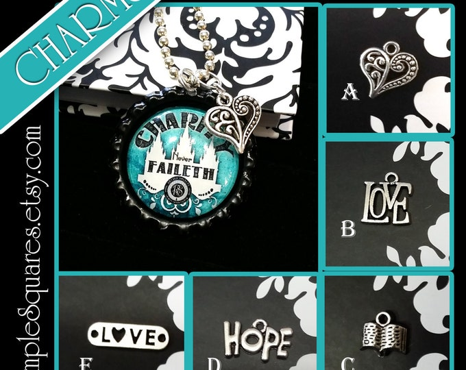 CHARMS - Pack of 10 DIY for Jewelry, Necklaces, Pendants. Use in Relief Society, YW, Super Saturday, Make and Take Girls Camp Birthday Gifts