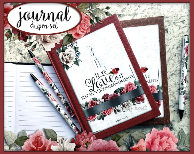 YW 2019 Mutual Theme Journal & Pen Set If Ye Love Me Keep My Commandments Come Follow Me Young Women New Beginnings gifts birthday