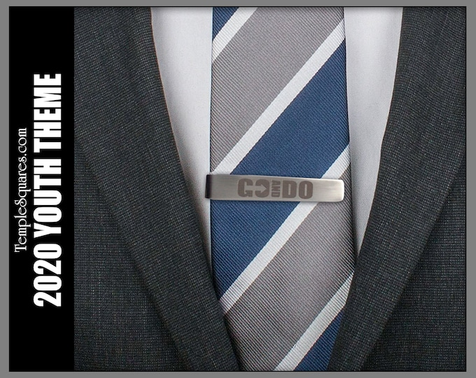 Go and Do Tie Bar Tie Clip YM Young Men 2020 Youth Theme I Will Go I Will Do 1 Nephi 3:7 LDS Priesthood Gift Missionary Christmas Birthday