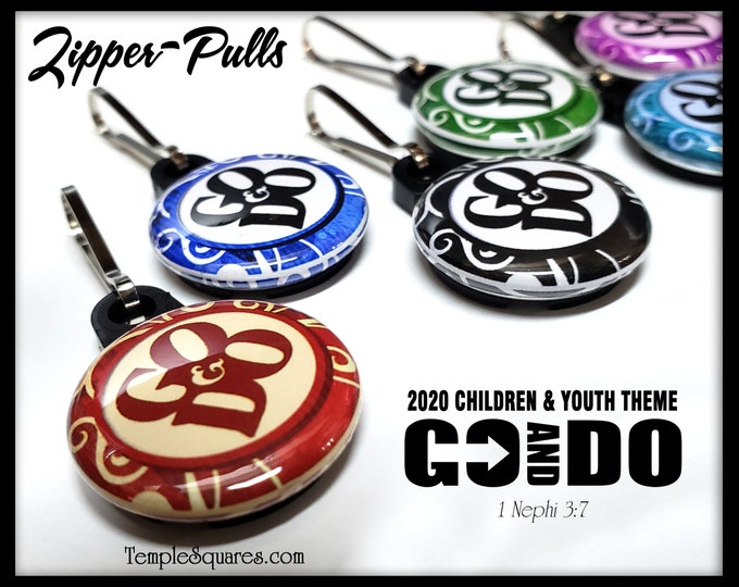 Zipper Pulls Go and Do 2020 Youth Theme - Birthdays, Baptism, Missionaries Gifts YW Scripture Bag Boys Girls Bookmark Scripture Card LDS