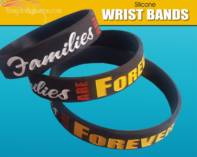 Primary Come Follow Me Families Are Forever LDS silicone bracelet wristbands Christmas gift birthday gifts baptism great to be 8 Youth