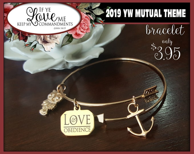 YW 2019 Mutual Theme Charm Bracelets If Ye Love Me Keep My Commandments Young Women Jewelry Charms New Beginnings gifts, birthday gift LDS