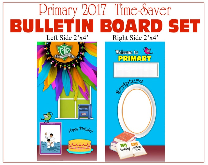 Primary Bulletin Board CTR Choose The Right - Vinyl Poster backgrounds - Companion listing to matching printables