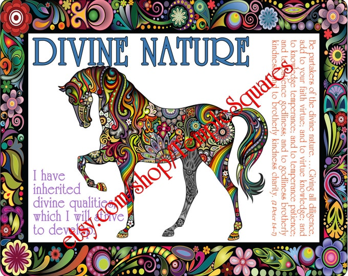 """PRINTABLE Young Women Values Personal Progress """"DIVINE NATURE"""" 4x6, 5x7, and 8x10"""