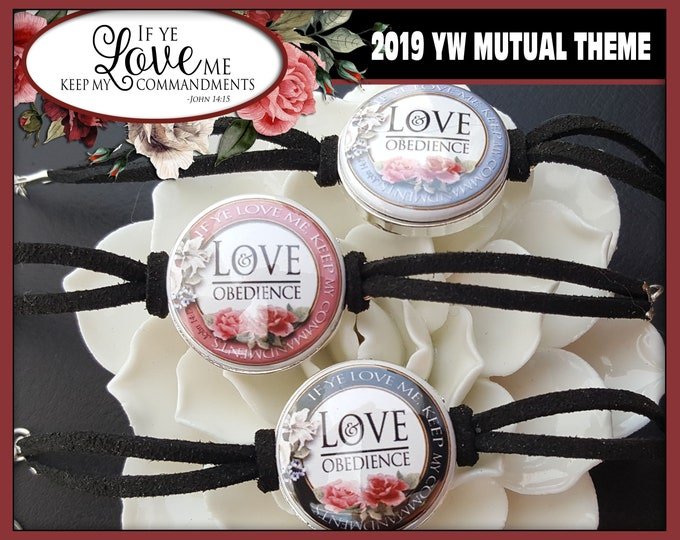 YW Bracelets If Ye Love Me Keep My Commandments 2019 Young Women Mutual Theme Charm Gift LDS Gifts New Beginnings Birthday YWIE Button